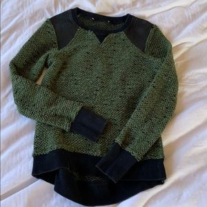 Leather Knit Sweater